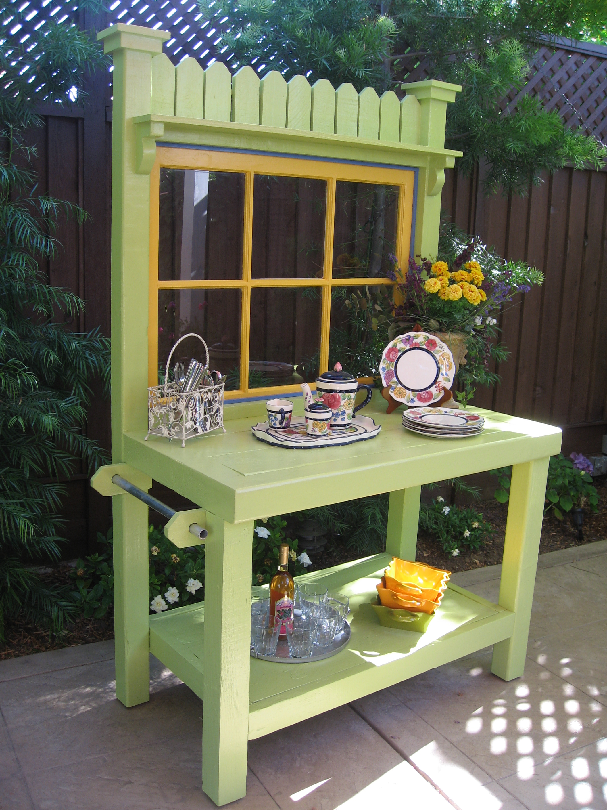 The Old Potting Bench San Jose Custom Designed Outdoor Decor