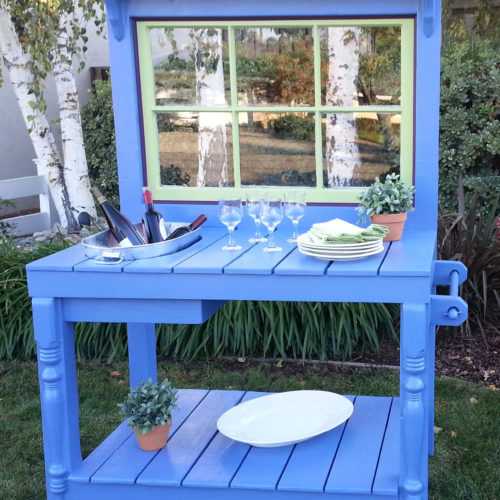 Periwinkle-blue-bench