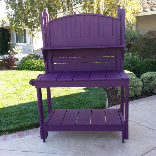 Purple-potting-bench